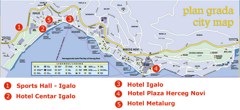 mapa primorja crne gore Igalo Mapa   Igalo i Crna Gora mapa primorja crne gore